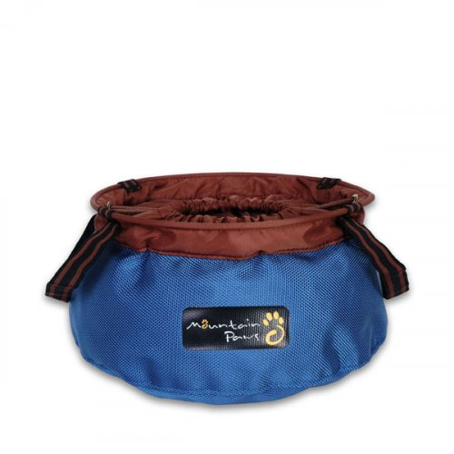 Large Portable Dog Bowl - Blue