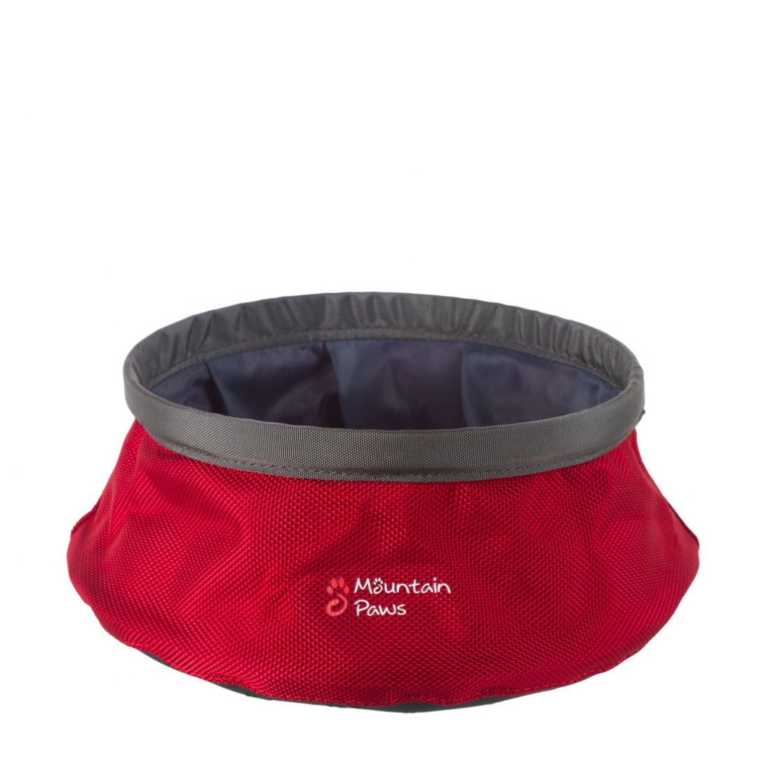 Red dog water bowl