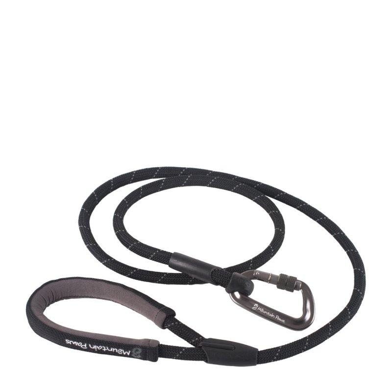Black climbing rope dog lead