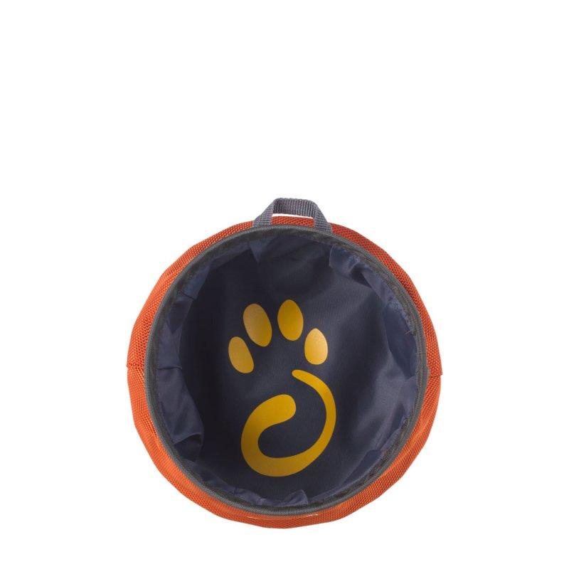 Orange dog water bowl