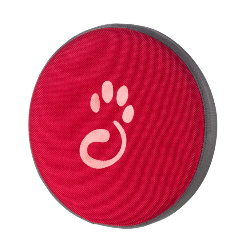Red frisbee for dog