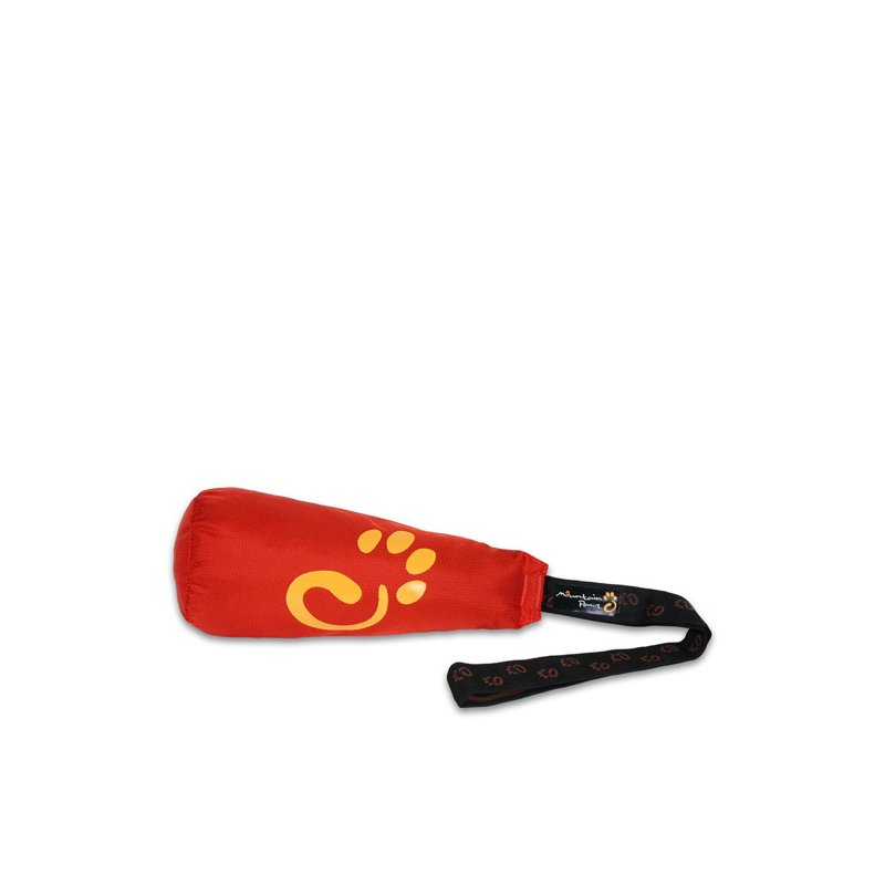 Clunk dog fetch toy in red
