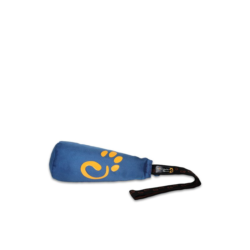 Clunk dog fetch toy in blue