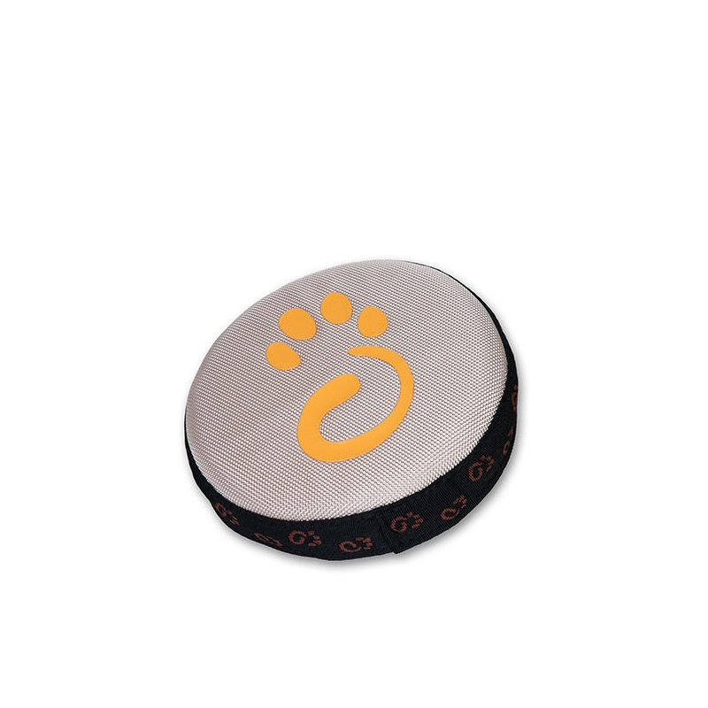 Beige Catch-A-Little dog frisbee